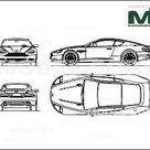Aston Martin DB9 2004   2D drawing blueprints   22668   Model COPY   English