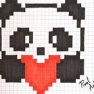 pixel art animaux panda : +31 Idées et designs pour vous inspirer en images