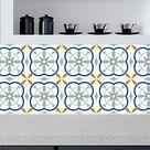 Tile stickers for kitchen, bathroom, backsplash, fireplace, floor, removable, waterproof, Peel & Stick, Pack x 24 stickers -   204-8