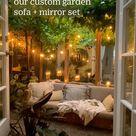 How & why we created our custom garden sofa + mirror set