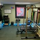 Added some lights and a utility cart, mounted the mirror, and did a lot of rearranging. Lat pulldown/low row cable attachment, j-hooks, landmine, and dip bars are all on the way, and should arrive sometime this week. The basement gym is almost in final form, and I couldn't be happier!