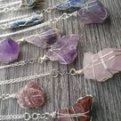 mystery raw crystal necklace.