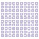 Iphone Ios 14 App Icon Pack 240 Soft Purple Icons & White and | Etsy