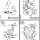 Printable Flash Cards: Dinosaurs Alphabet