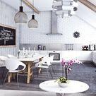 Offene Küche mit Wohnzimmer zusammen oder getrennt? 50 Ideen