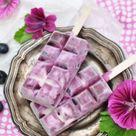 Heidelbeer-Joghurt-Eis am Stiel {Rezept} - Casa di Falcone