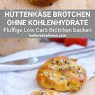 Low Carb Brötchen mit Hüttenkäse - Gesunde Eiweißbrötchen selber backen