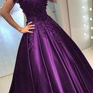 Off Shoulder Green/Purple Lace Prom Dresses, Off the Shoulder Long Lace Formal Evening Dresses - US 2 / Purple as Pics / No Rush