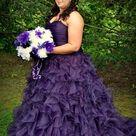 Purple Wedding Dress Purple Bridal Gown Purple Wedding Gown   Etsy
