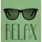 'Relax Retro Sunglasses Art Poster Print' Posters    AllPosters.com