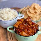 Aziatische kip met kruidige rijst - Familie over de kook