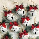 Easy Dollar Store Rae Dunn Inspired Christmas Ornaments to Make or Sell