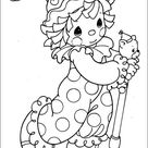 Precious Moments 55 Coloring Page for Kids - Free Precious moments Printable Coloring Pages Online for Kids - ColoringPages101.com | Coloring Pages for Kids