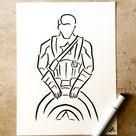 Captain America outline by Dashesofcolor on DeviantArt