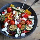 Gegrilde groenten salade met fèta