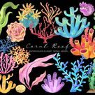 Watercolor Tropical Clipart ⊛ Commercial Use Watercolor Clipart Summer Clipart Beach Clipart Scrapbooking Clipart Digital Clip Art Download