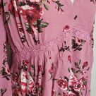NWT Velzera Floral Mauve Midi Dress Large Price Reduced!NWT Velzera brand in a size Large. This is a gorgeous dress for warmer weather. It is a floral dress that is midi length and has crochet detailing along the shoulders and near the waist. It is an easy pull on style and has an empire waist, front v-neck, stretchy waistband, two separate vent slits on the sleeves, tie back, and is lined. It is new with tags in the original shipping bag and was only tried on and taken out for pictures, which i