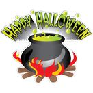 Happy Halloween Cauldron Halloween Lawn Decoration set of 13   12946
