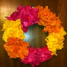 Tissue Paper Wreaths