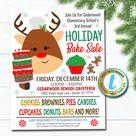 Holiday Bake Sale Flyer  - Printable Template
