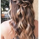 formal hairstyles for long hair brown