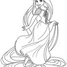 Free & Easy To Print Tangled Coloring Pages