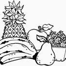 Desenhos de Frutas para Imprimir e Colorir