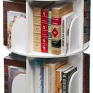 Toytexx Inc & Design 4 Tier 360° Rotating Stackable Shelves Bookshelf Organizer (White)