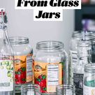 How to Easily Remove Labels From Glass Jars