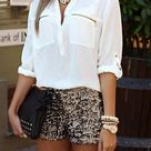Beige Shorts Outfit