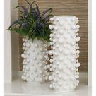 Global Views Studio A Molecule Small Matte White Vase 7.80417