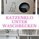 Katzenklo unter Waschbecken verstecken: So geht's!