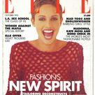 Elle UK Oct 1993  British Original Vintage Fashion Magazine Gift Birthday Present Beri Smithers cover