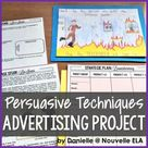 Advertising Project   Persuasive Techniques   Rubric included