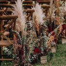 Hochzeitsdeko Boho Hochzeit im Freien - mit Pampasgras & Greenery