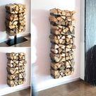 12 Regal Brennholz Wohnzimmer