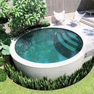 35 Lovely Small Swimming Pool Design Ideas To Get Natural Accent