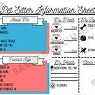 Pet Sitter Trio: Packet of Digital Download Templates - Pet Sitter Invoice - Pet Sitter Info Sheet - Dog Sitting Report Card