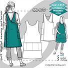 S-4XL/ Cross-back Pinafore Apron NO-side-seams/ Digital Sewing PDF-pattern for Women >mc2patterns< mc2-1317