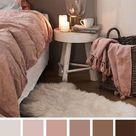 Malvenfarbenes und braunes Farbschema für Schlafzimmer   erdige Farben für Schlafzimmer