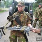 Dutch Female solider with gun