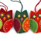 Felt owl ornaments, Colourful felt owl Holiday ornaments, Bird Christmas ornaments.