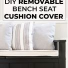 DIY Removable Bench Seat Cushion with Piping