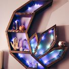 Crystal Crescent Moon Shelf moon shelf altar Mother's   Etsy