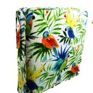 Tropical cushions covers Bird Caribbean, Outdoor deep seat, Patio throw pillows, Wings  replacement life palm leaf sofa wicker garden pads