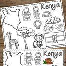 Kenya Coloring Pages