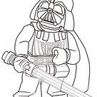 Ausmalbild: Lego Star Wars Darth Vader | Ausmalbilder kostenlos zum ausdrucken