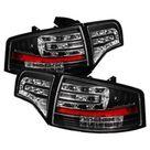 Spyder Audi A4 4Dr 06 08 LED Tail Lights Black ALT YD AA406 G2 LED BK