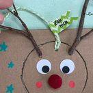 Originelle Weihnachtskarte mit Weihnachtsgeschenk in einem: einfach und umweltfreundlich