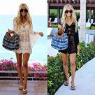 15.95US $  Fashion 2019 Summer Women Sexy Lace Beach Dress Three Quarter Casual V Neck Batwing Sleeve Loose Dress Cape Cover Mini Dress Dresses      AliExpress